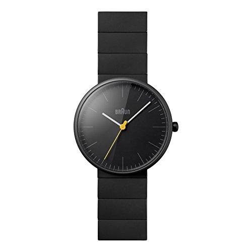 Braun Men's BN0171BKBKG Ceramic Analog Display Japanese Quartz Black Watch ()