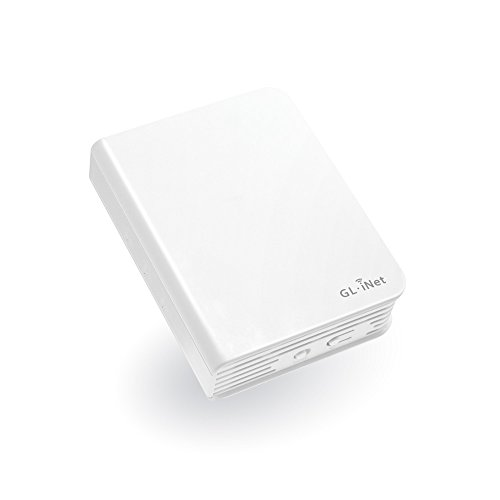 GL.iNet GL-AR750 Travel AC Router, 300Mbps(2.4G)+433Mbps(5G) Wi-Fi, 128MB RAM, MicroSD Storage Support, OpenWrt/LEDE pre-installed, Power Adapter and Cables Included by GL.iNet (Image #1)