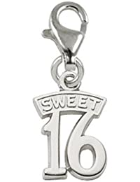 Sweet 16 Charm with Lobster Clasp