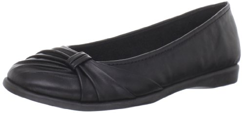 Easy Street Womens Giddy Closed Toe Slide Flats Black