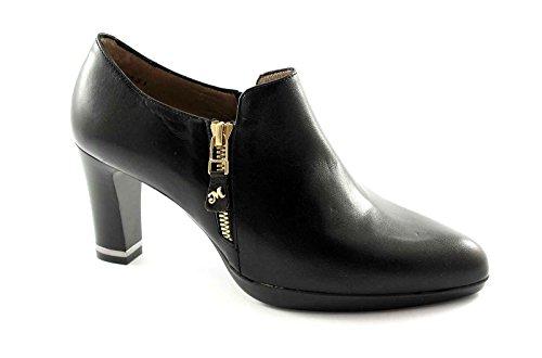 MELLUSO V5318 nero scarpe donna montante tacco zip laterale