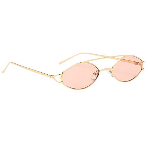 Unisex marrón Lentes Gafas Protección Elípticas Solar Marco 400 UV Homyl Sol para Mujer Metal Regalo Hombre de watqxIAf