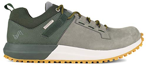 Forsake Range Low - Men's Waterproof Leather Approach Sneaker (14 D(M), Olive/Grey)
