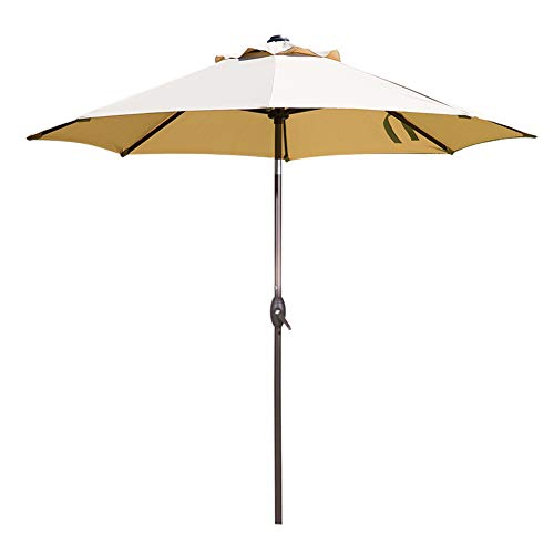 Abba Patio Market Outdoor Table Umbrella with Auto Tilt and Crank, 9 Feet, Beige