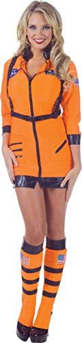 Underwraps Women's Sexy Astronaut Costume-Cosmic, Orange, ()