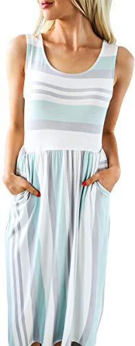Pleated Empire Sweater - NENONA Womens Long Sleeve Pocket Empire Waist Pleated Loose Swing Casual Flare Midi Dress (Mint-XL)