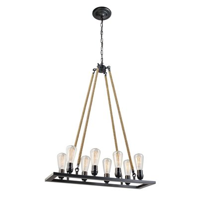 Globe Electric 65038 8-Light Vintage Chandelier, Oil-Rubbed Bronze