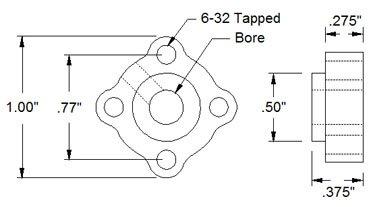 12mm Bore Set Screw Hub