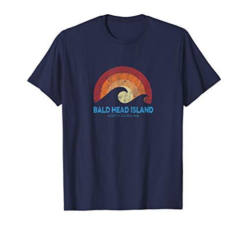 Bald Head Island NC T-Shirt Retro Surf Beach Vibe Tee (Bald Head Island)