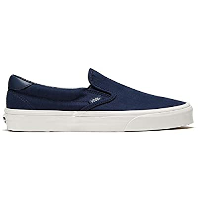 Vans Men's Slip-On 59 (Outdoors) Skate Shoe (12 Women / 10.5 Men, Dress Blues/Blanc de Blanc) | Shoes