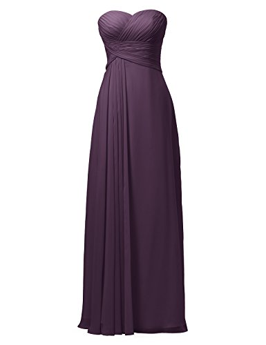 Evening Women for Dress Grape Bridesmaid Long Dress Sleeveless Party Dress Strapless Alicepub 6SIqpAcvZa