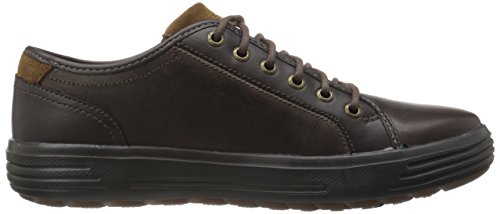 Skechers 64737 USA Men's Porter Ressen Oxford, Chocolate, 11.5 M US