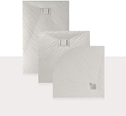 Idralite Plato de Ducha 90x170x2,6 CM Rectangular Blanco Efecto Piedra Mod. Blend: Amazon.es: Hogar