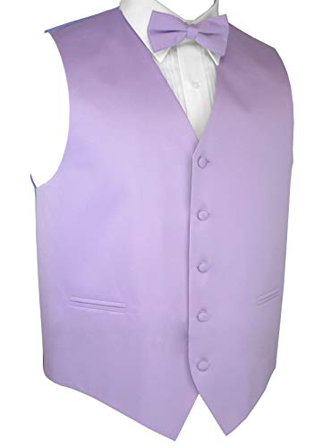 Italian Design, Men's Tuxedo Vest, Bow-Tie & Hankie Set in Lavender - M ()