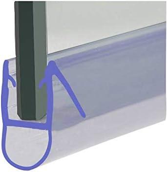 Tira de sellado de HNNHOME para mampara de ducha de 870 mm para cristal recto y curvado de 4-6 mm hasta 8 mm: Amazon.es: Hogar