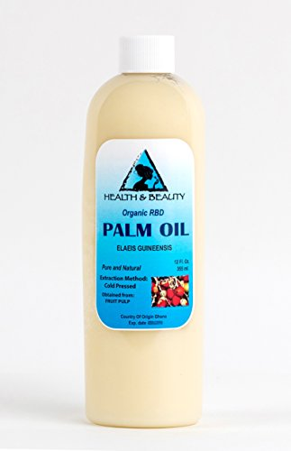 Palm Oil RBD Organic Carrier Cold Pressed Pure 12 oz