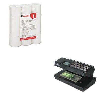 KITRSIRCD2000UNV35715 - Value Kit - Royal Sovereign Portable 4-Way Counterfeit Detector (RSIRCD2000) and Universal Adding Machine/Calculator Roll (UNV35715)