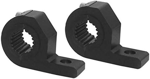 Newgreen Lot de 2 supports de fixation universels pour pare-buffles 15-30 mm pour voiture et moto