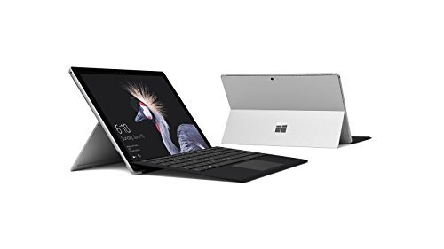 Microsoft Surface Pro 128GB i5 4GB RAM with Black Type Cover Bundle (2.6GHz i5, 12.3 Inch TouchScreen) Newest Version 2017 (Renewed)