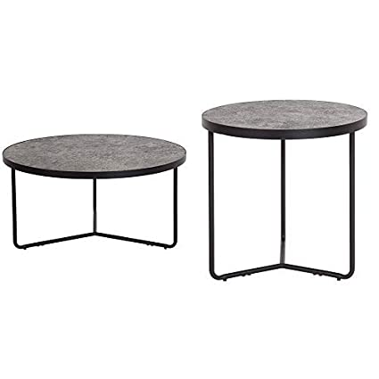Round Coffee Table Concrete 2