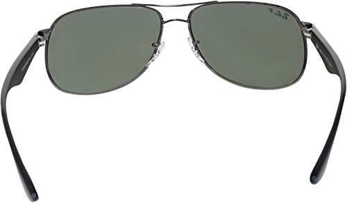 16ad8d12ed Ray-Ban Classic Metal Sunglasses in Gunmetal Green Polarised RB3502 ...
