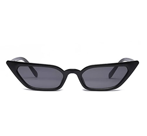 Small Frame Skinny Cat Eye Sunglasses for Women Colorful Mini Narrow Square Retro Cateye Vintage Sunglasses by W&Y ()