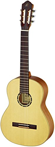 Ortega Guitars R121L Family Series Left Handed Nylon 6-String Guitar with Spruce Top and Mahogany Body, Satin Finish