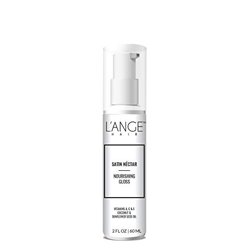 (L'ange Hair SATIN NÉCTAR Nourishing Gloss - Vitamin A, C & E for Conditioning - Coconut & Sunflower Oil for Healthy Hair - Professional Salon Grade Care - Best Spray for All Hair Type, 2 Fl Oz )