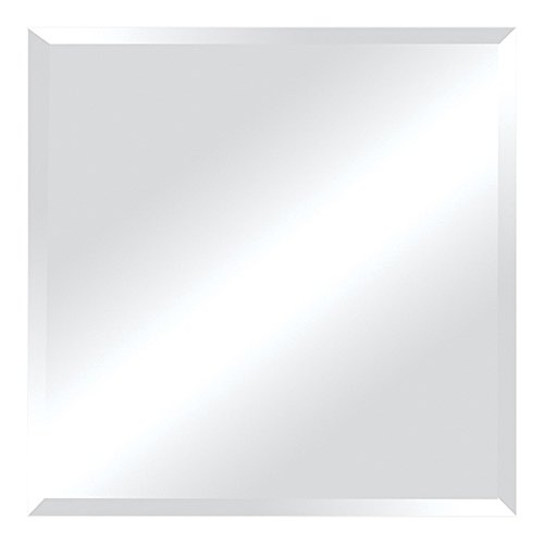 Ren-Wil Frameless Beveled Square Wall Mirror – 30W x 30H in.