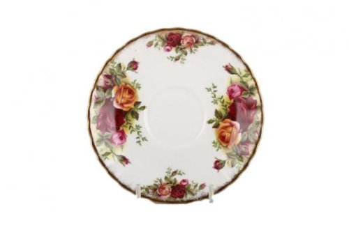 Royal Albert Old Country Roses Cream Soup 6-1/2-ounce Saucer ()