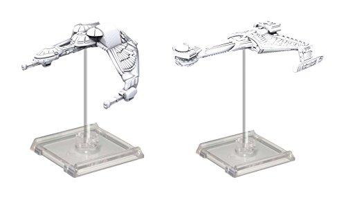 WizKids Star Trek Deep Cuts Unpainted Miniatures Ships Bundle: Klingon Bird of Prey & K't'inga Class
