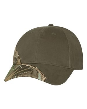 Kati - Licensed Camo Cap with Barbed Wire Embroidery - LC4BW - One Size - Hardwood Green/ Olive