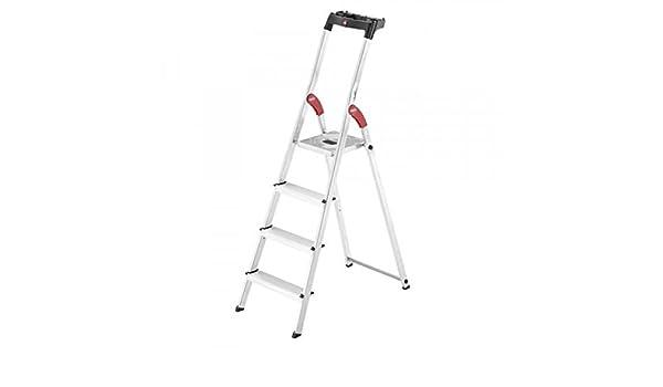 Hailo 0005262 Escalera, Fabricada en Aluminio, Modelo Polivalente incluye Bandeja Multiplicación y Protección de Articulaciones, Versión de 4 Peldaños: Amazon.es: Industria, empresas y ciencia