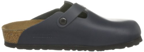 Birkenstock Boston 60101, Zuecos De Piel Natural Unisex Adulto Azul