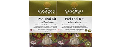The Coconut Kitchen – Pad Thai Kit – Vegan Stirfry Sauce, Rice Noodles & Nuts. Quick Thai Meal (Pack of 2 x 240g)
