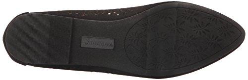 UNIONBAY Women's Winnie Pointed Toe Flat Black xlbM45dVf