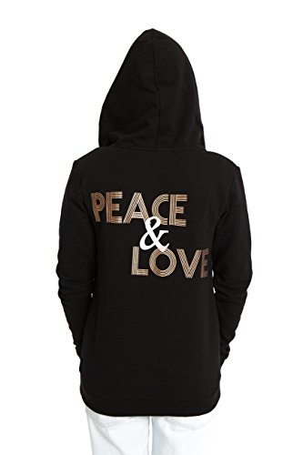 10de9f36f86c0 VIVILISH WOMEN ROSE GOLD PEACE & LOVE WARM ZIP-UP HOODIE - DESIGNED IN LOS  ANGELES