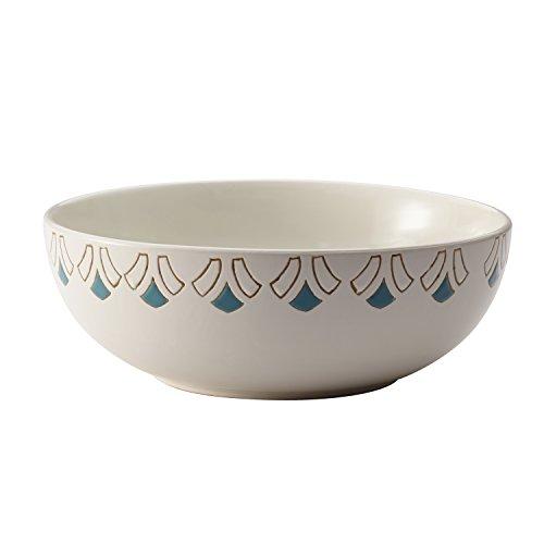 Rachael Ray Dinnerware Pendulum 10-Inch Round Stoneware Serving Bowl, Print (Rachael Microwave Ray)