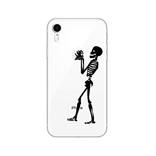 iPhone XR Case,Blingy's New Fun and Cool Style Transparent Clear Protective Soft TPU Rubber Case Compatible for iPhone XR (Skeleton)