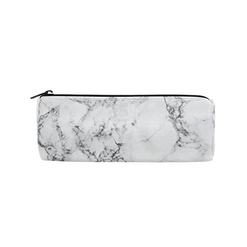 KUWT Pencil Bag Marble Abstract Pattern, Pencil Case Pen Zipper Bag Pouch Holder Makeup Brush Bag for School Work Office by KUWT