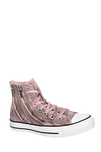 Converse Womens Chuck Taylor Dual Zip Hi Pink Freeze Basketball Shoe (5)
