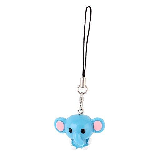 uxcell Elephant Pendant Smart Phone Bag Strap String Hanging Decor Blue (Strap Blue Charm)