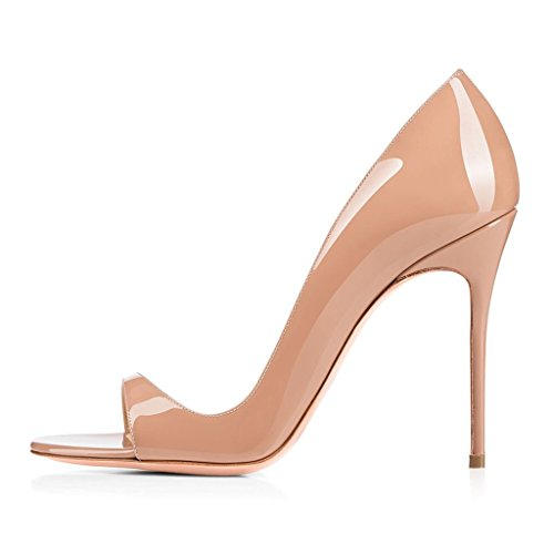 Heels Wedding High Out Sandals Eldof Pumps 12CM High Open Party Beige Heel Heeled Womens Sandals Cut Summer Toe nn7qvSHw