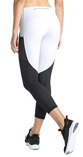 Pocket Pant Fatigue 6 - slimour Women Workout Leggings Capri Length High Waist Compression Activewear Capri Pants White 6