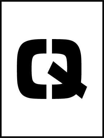 NMC PMC8-Q 8''Stencil Letter ''Q'', Pack of 12 pcs by National Marker
