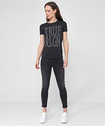 Impresión La Mujeres De Negro Camiseta Del True Pantalla Religion Rhinestone HwZqZ0