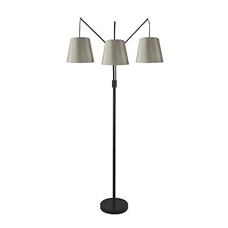 Allen Roth 80 In Bronze 4 Way Multi Head Floor Lamp With Fabric