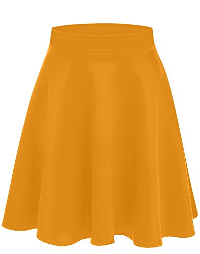 Mustard Skirts for Women Mustard Midi Skirt Yellow Skater Skirt Flared Skirts Mustard Yellow Skirt (Size X-Large (US 14-16), Mustard)