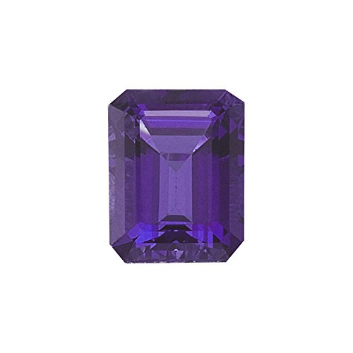 2.70-2.90 Cts of AAA 10x8 mm Emerald-Cut Amethyst ( 1 pc ) Loose Gemstone ()
