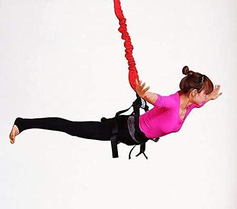 90-110kg HAIKE ZWWZ R/ésistance Bungee Bandes Fitness Yoga Aerial Cordon /élastique Pilates Suspension Sling Anti-gravit/é Yoga Entra/îneur Corde Tirer Jeu de Base Noir